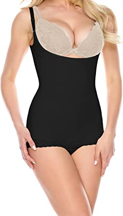 15afdc2e7 La-Reve Womens Shapewear Bodysuit Panty - Body Shaper with Tummy Control  Slimmer