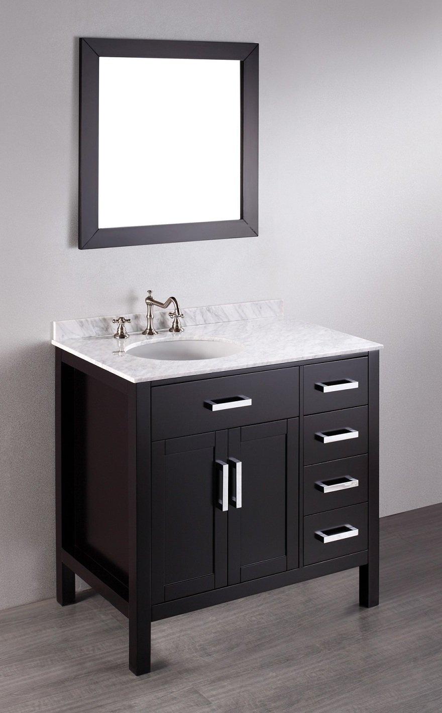Bosconi Bathroom Vanities SB-2105 Contemporary Single Vanity with ...