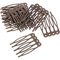 FITYLE 10pcs Antique Silver Gold Bronze Tone Metal Hair Side Combs Clips Pins 2.7/5.6cm for DIY Jewelry Finding Crafts - Bronze, 2.7cm