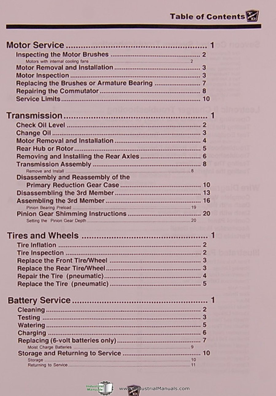 Taylor Dunn Sc Series Stockchaser Tractor Oeprations And Parts Battery Wiring Diagram Manual Books