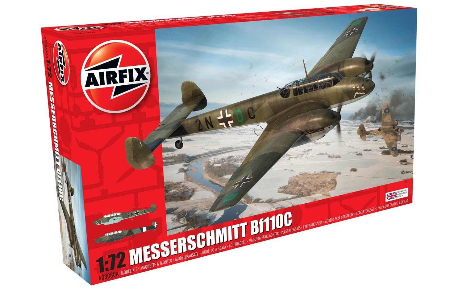 Airfix Messerschmitt Bf110C 1 72 Scale Plastic Model Airplane A03080A