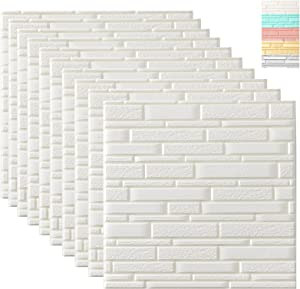 WADILE 3D Wall Panels Peel and Stick,20Pack Self Adhesive Wallpaper, Removable Wallpaper Waterproof PE Foam, for Interior Wall Decor Brick Wall Living Room