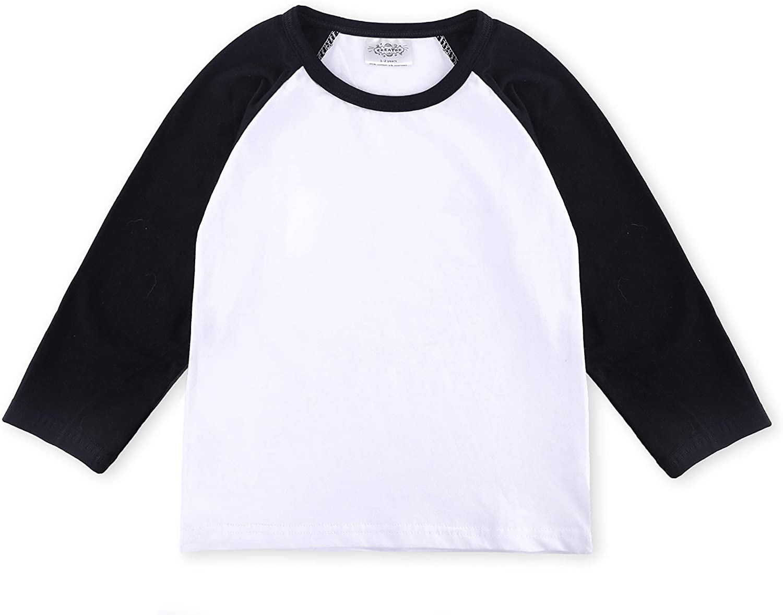 CREATOR Toddler Baby Girls Boys Short Sleeve Shirts Raglan Shirt Baseball Tee Cotton T-Shirt