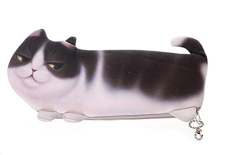 LB de 118 – 2 gris Tiger gato estuche funda estuche para dama Japón Harajuku kawaii