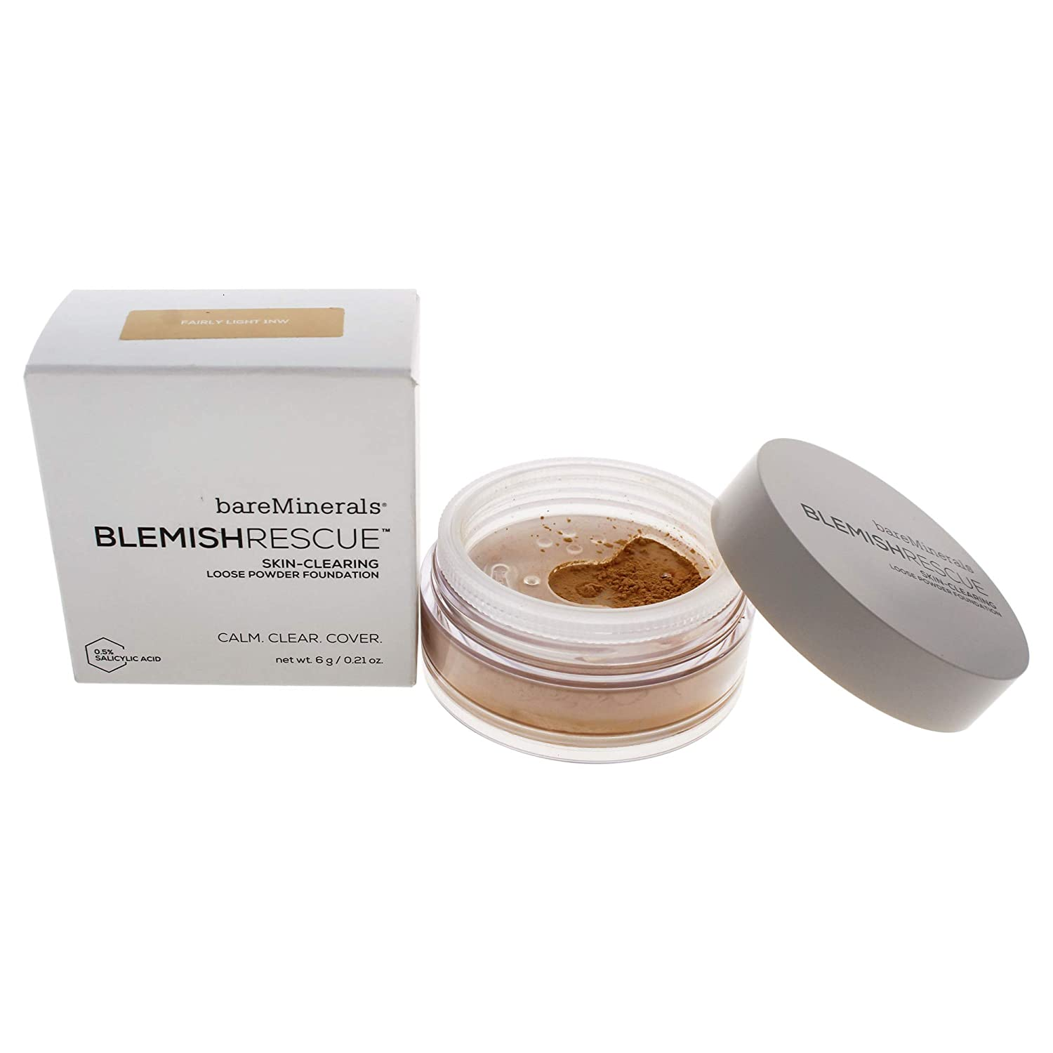Bare Escentuals Blemish Rescue Skin-clearing Loose Powder Foundation for Women, 1nw Fairly Light, 0.21 Oz