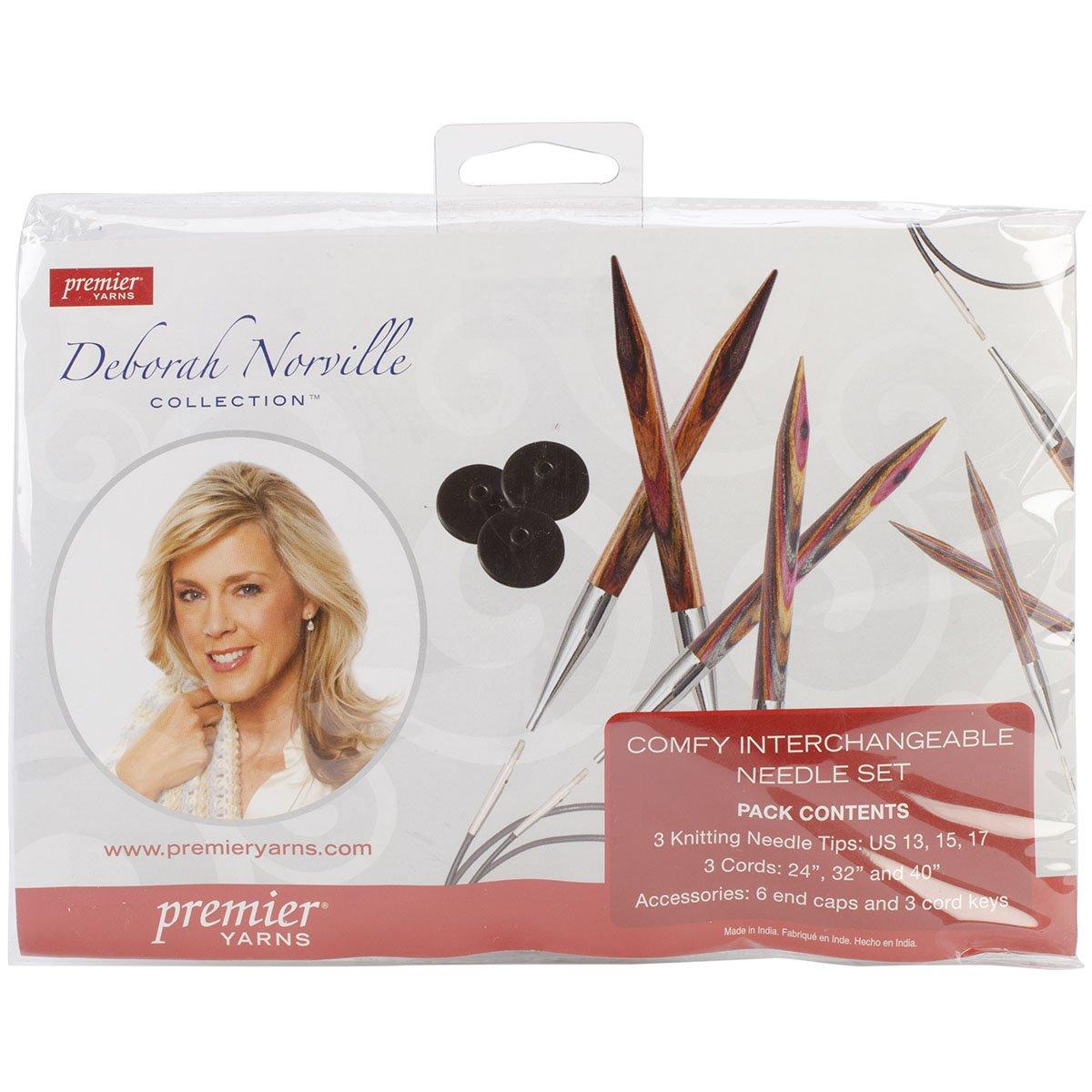 Premier Yarns Deborah Norville Interchangeable Knitting Set, Sizes 13, 15 & 17