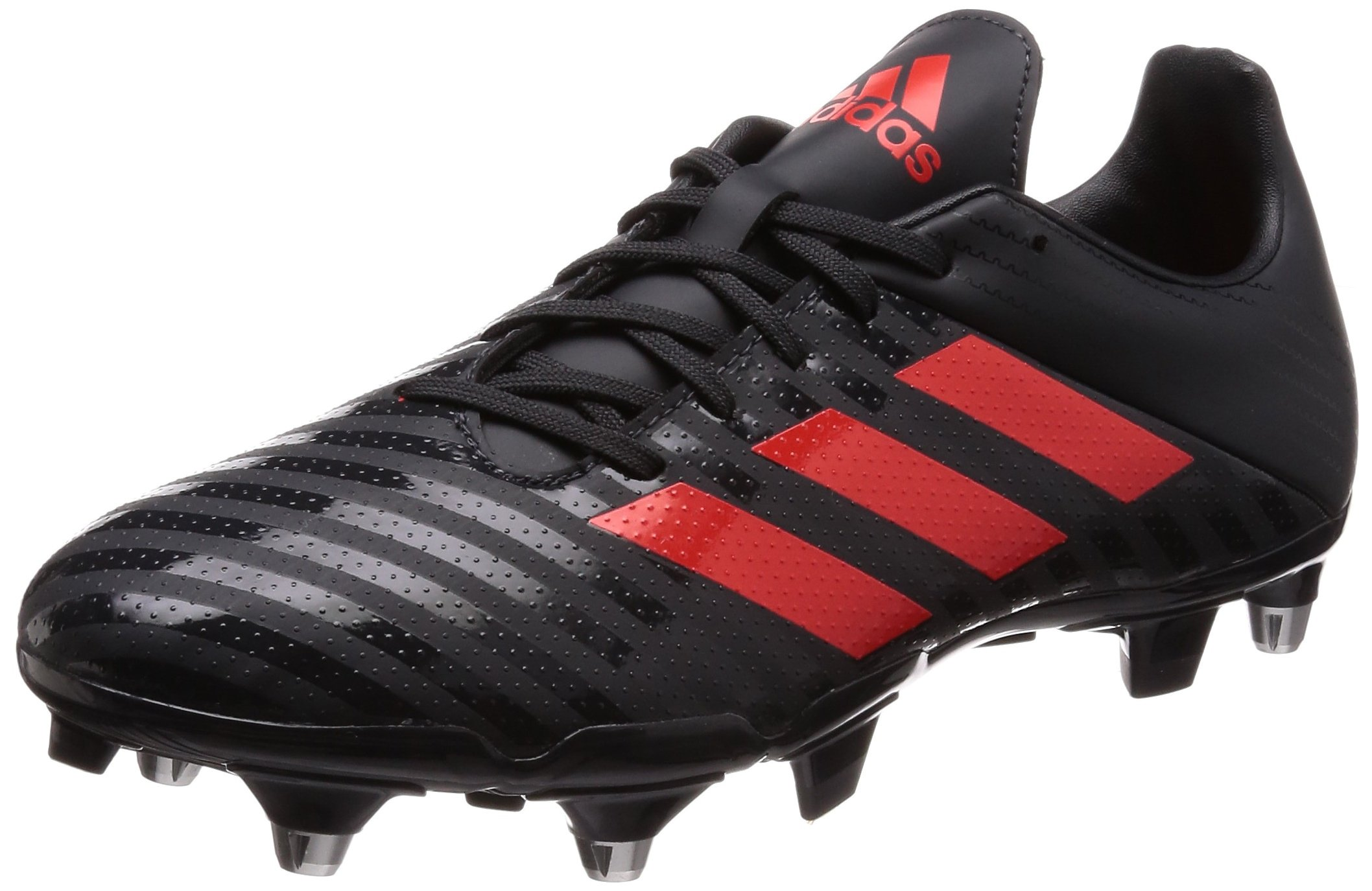 adidas Malice SG Rugby Boots - Black/Red - UK 8 by adidas