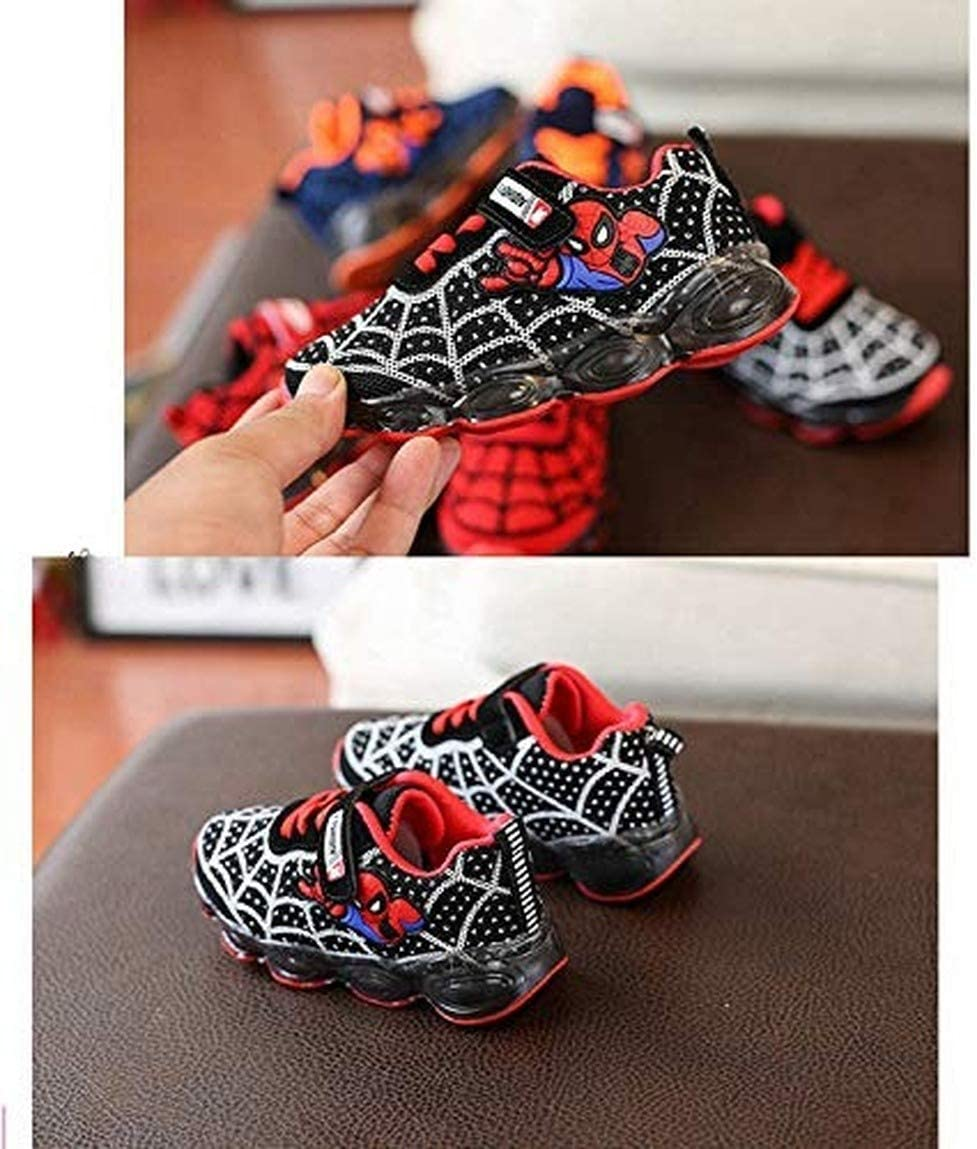 Malltea Baskets /à LED pour Enfant Motif Spiderman