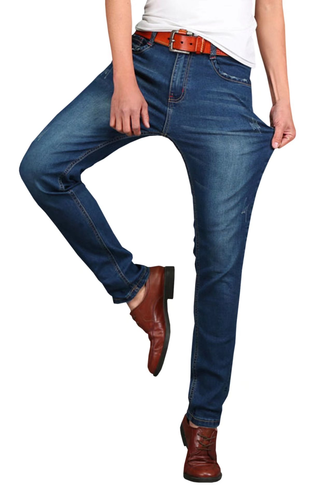 HENGAO Men's Casual Stretch Jeans