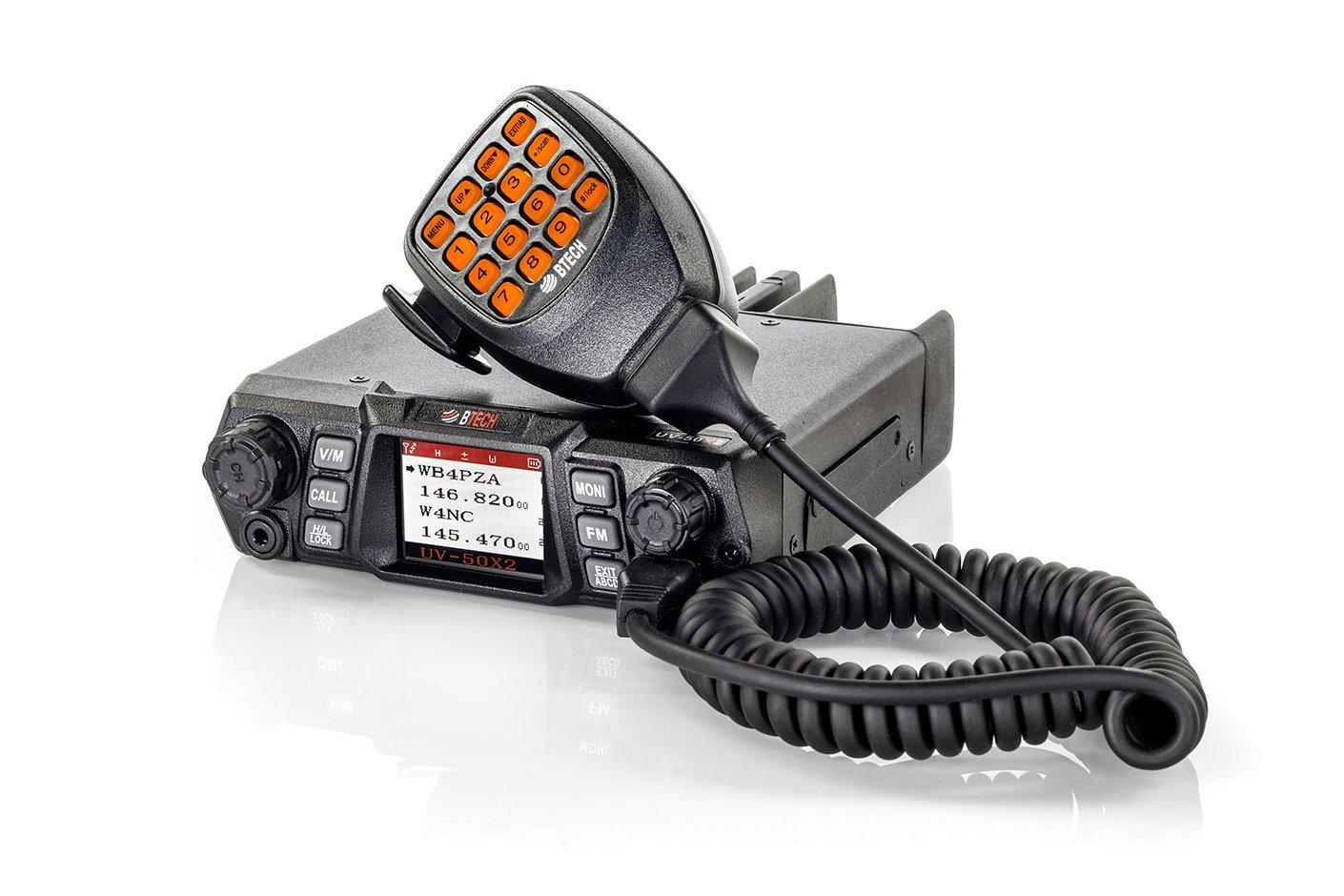 BTECH Mobile UV-50X2 50 Watt Dual Band Base, Mobile Radio: 136-174mhz (VHF) 400-520mhz (UHF) Amateur (Ham) by BTECH
