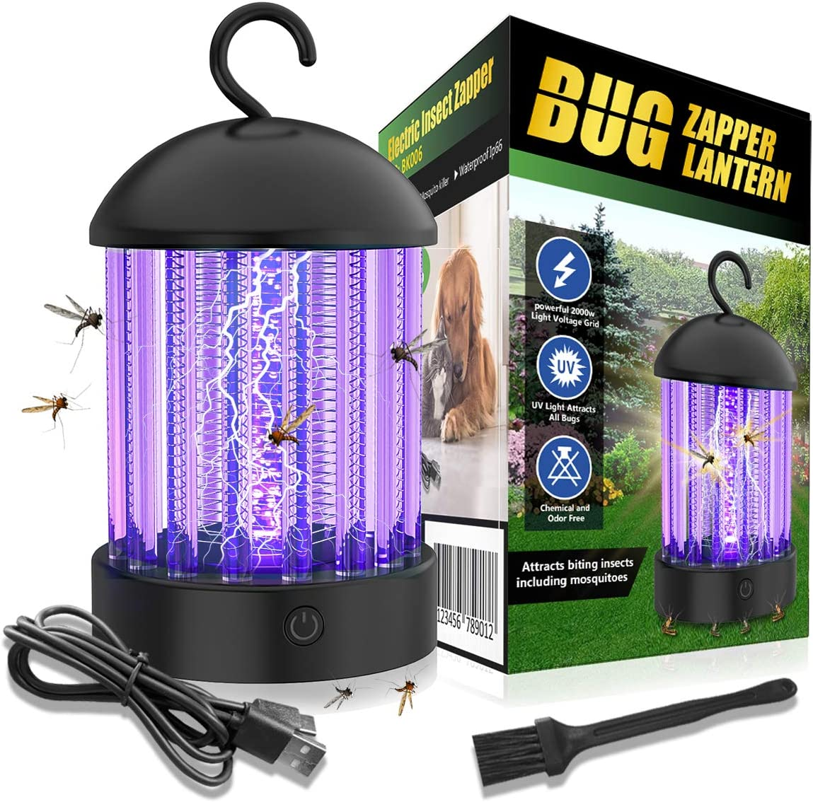 110V Uonlytech 2pcs Bug Zapper Light Bulb UV LED Electronic Mosquito Killer Lamp Insect Zapper Bug Fly Trap for Outdoor Porch Patio Backyard Bedroom