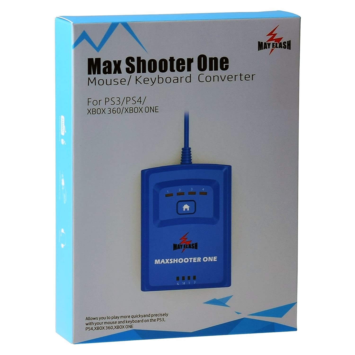 Mayflash Max Shooter ONE Mouse Keyboard Converter for PS3 PS4 Xbox 360 Xbox One S Elite TC-MFMAX011