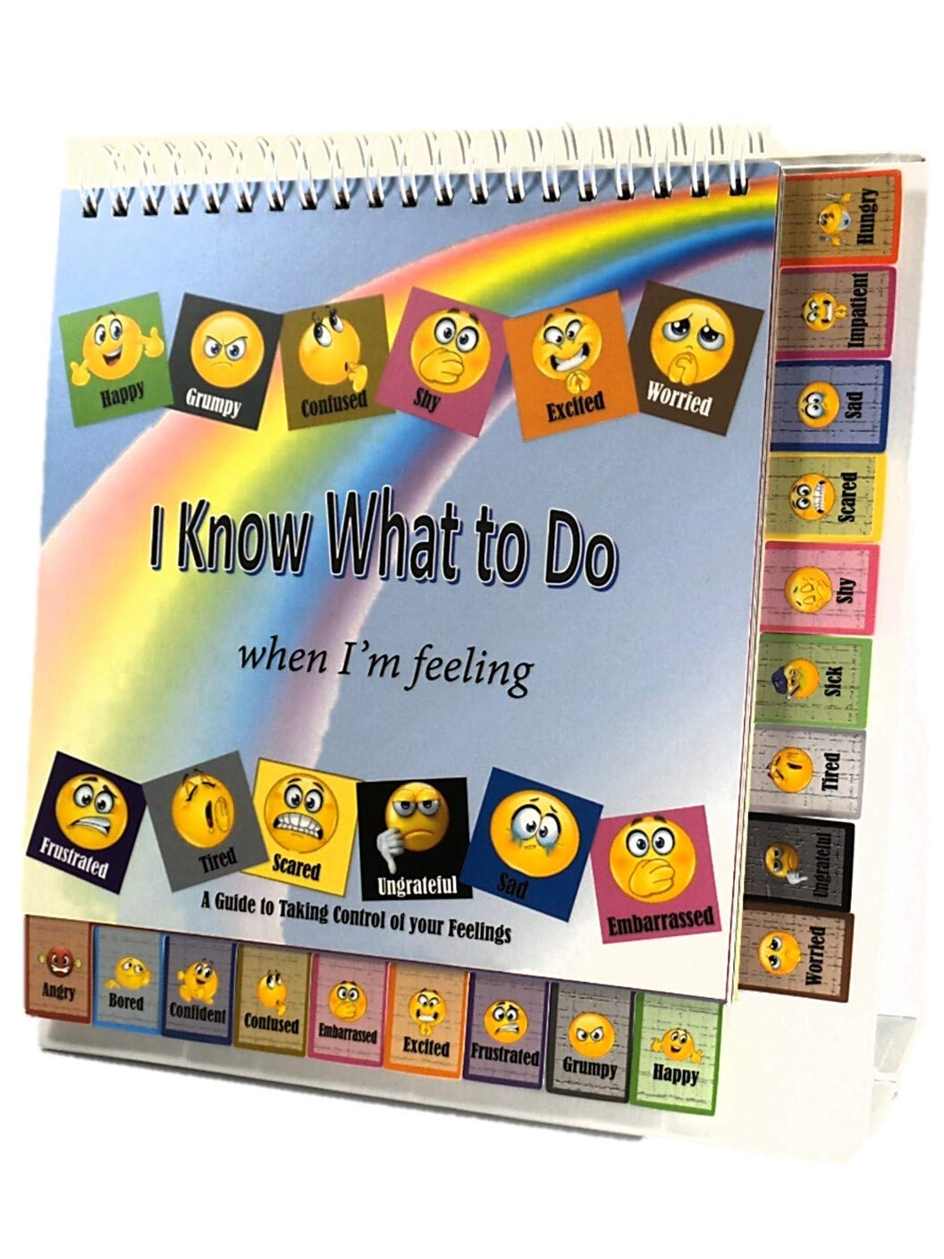 Thought-Spot® I Know What to Do Cards for Taking Control of Your Feelings/Emotions; 18 Emoji Cards to Help Children Identify Their Feelings & Emotions and Express Them in a Positive Manner Positive Paren+ing