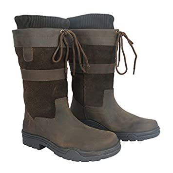 52998b23a5d Hkm Adults 3/4 3 Quarter Short Leather Waterproof Sole Walking Country  Horse Riding Boot Size 3-10