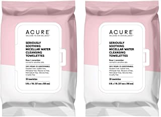 product image for Acure Seriously Soothing Micellar Water Towelettes with Rose and Cucumber, 30 Towelettes,