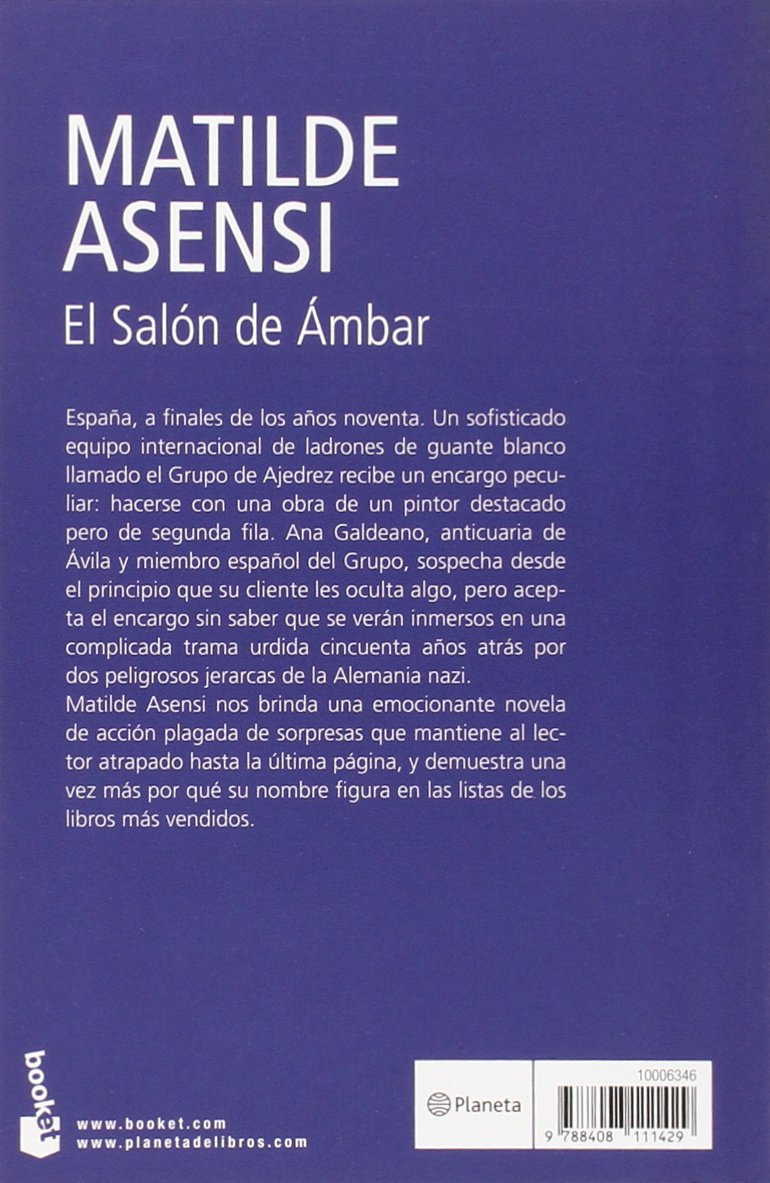 El salon de ambar rebajas spanish edition matilde asensi 9788408111429 amazon com books
