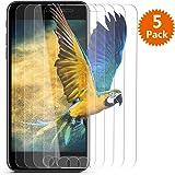"iPhone 7 Plus Screen Protector / iPhone 8 Plus Screen Protector - BlingFilm ( 5 Packs ) iPhone 7 Plus [ Tempered Glass ] Screen Protector for Apple iPhone 8 Plus / iPhone 7 Plus 5.5"" [ Case Friendly ]"