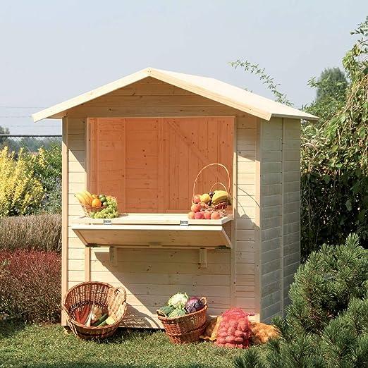 Quiosco 1718 – Casita de madera de jardín gartenpro: Amazon.es: Jardín