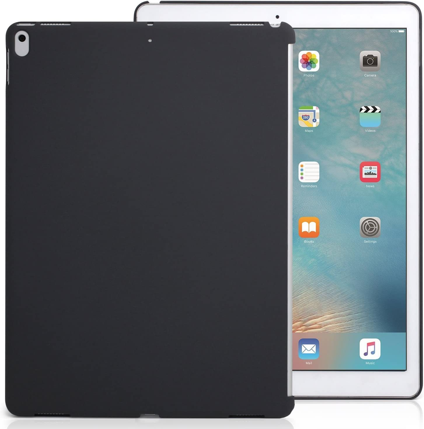 KHOMO iPad Pro 12.9 Inch Charcoal Gray Color Case - 2017 Version - Companion Cover - Perfect match for Apple Smart keyboard and Cover