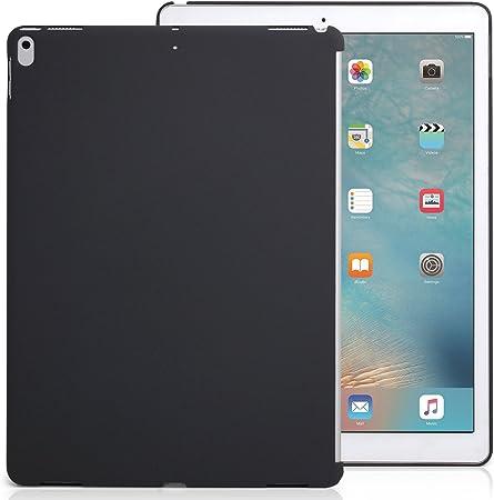 KHOMO Funda para iPad Pro de 12,9 Pulgadas, Color Gris carbón, versión 2017, Funda complementaria, combinación Teclado y Cubierta Apple Smart