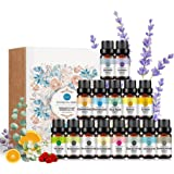Aromatherapy Top 15 Essential Oil Gift Set, 100% Pure Oils - (sandalwood,lavender,tea tree,chamomile,eucalyptus,rose…