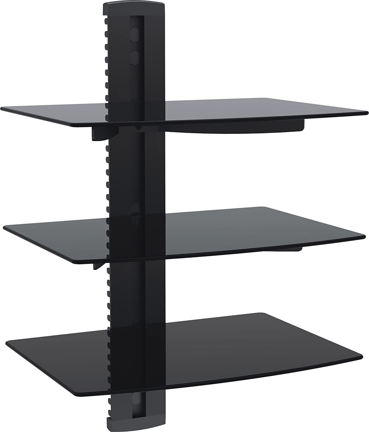 shelves itm to dvd component mark glass console shelf floating wall mount stand av