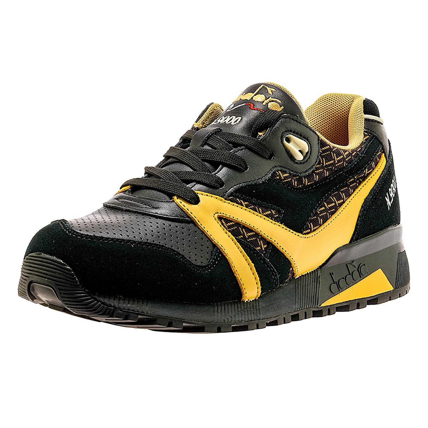 Diadora N9000 Little Italy Mens Black Suede&Synthetic Athletic Running  Shoes 60%OFF