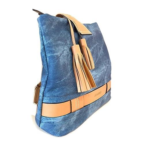 Matties Bags Bolso Mochila Mujer Caoba Azul: Amazon.es: Zapatos y complementos