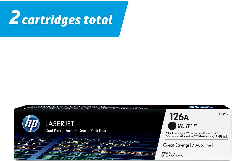 CE310AD HP 126A 2 Toner Cartridges Black