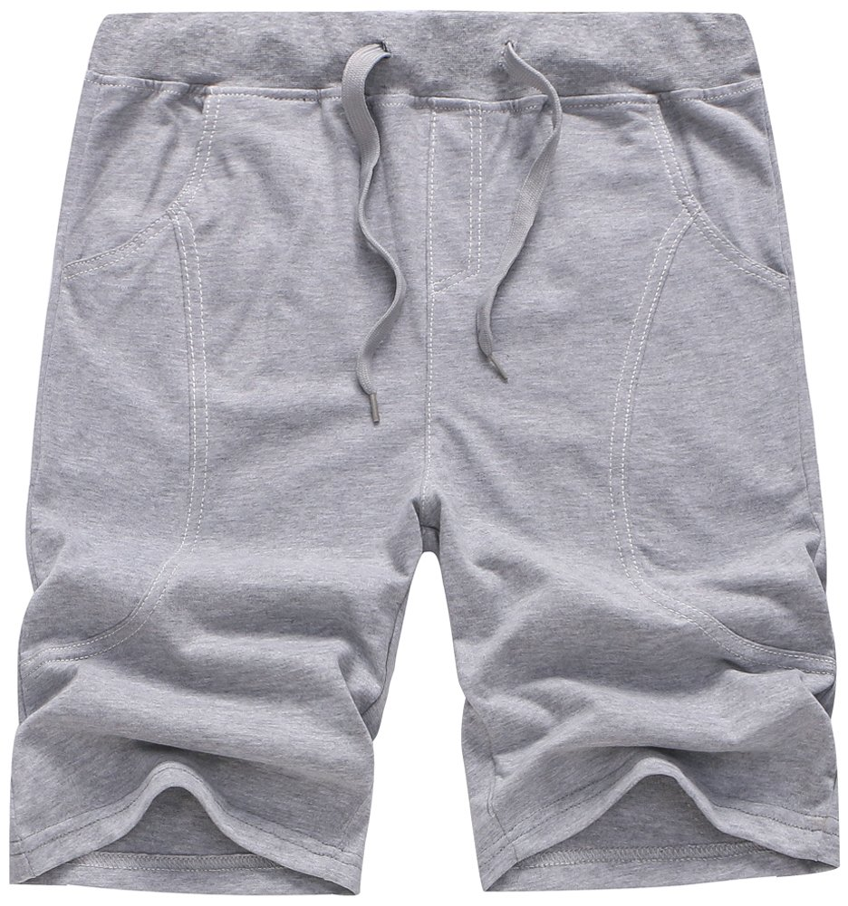 BINPAW Boys' Casual Drawstring Sweat Shorts