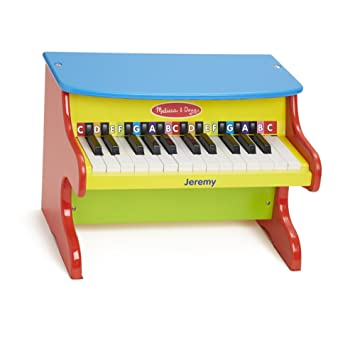 Melissa Doug Personalized Learn To Play Piano With 25 Keys Color Coded Songbook Of 9 Songs Music Set