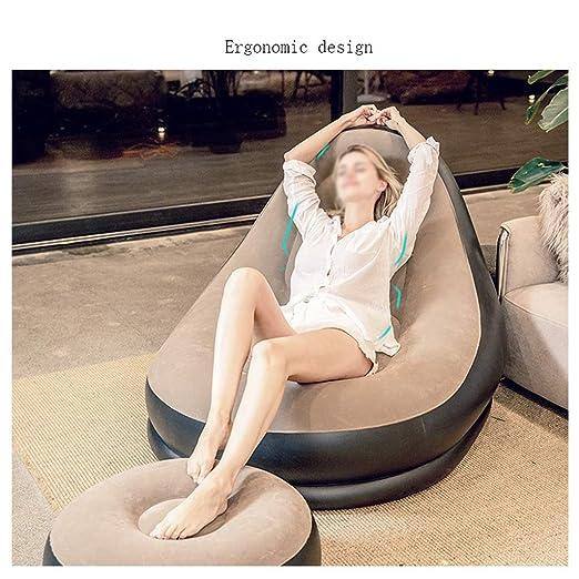 Amazon.com: Puf hinchable grande para sofá, silla de jardín ...