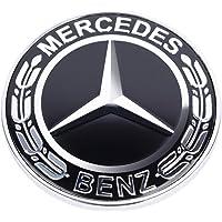 Mercedes Benz Bonnet 3D Emblem Badge LK Black Chrome