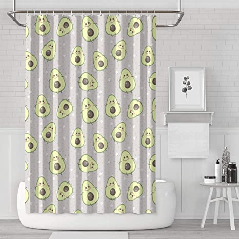 N0 233 Home Shower Curtain With Hooks Avocados Face Avocado Plant Water Repellent Bath Curtain Decor Shower Curtain Hooks Included 70x70 Inches Amazon Ca Home Kitchen