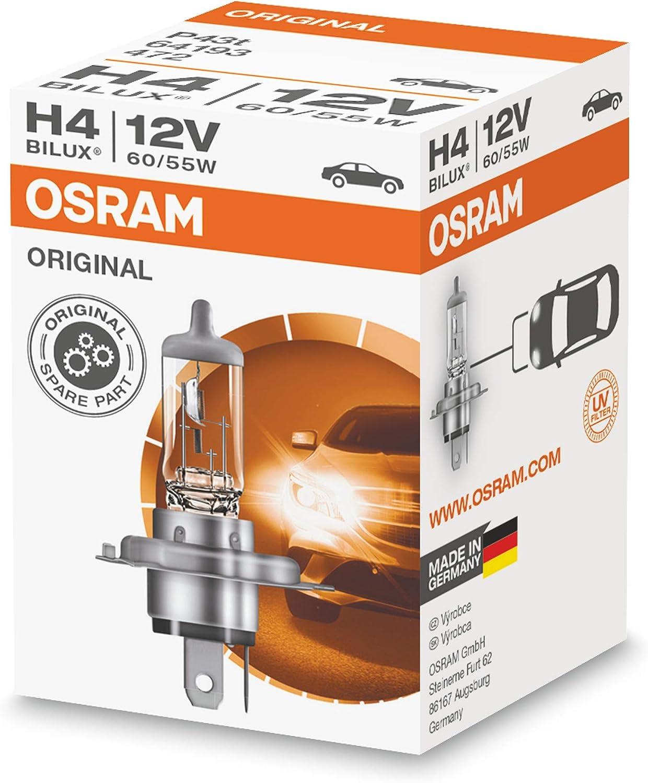 Osram 64193 Lámpara Faros H7 Blister Individual, Halogenweiß, HALOGEN ORIGINAL 12V