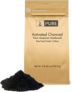 Pure Activated Charcoal Powder (2 lb) Gluten-Free, Made in USA, Resealable Eco-Friendly Packaging