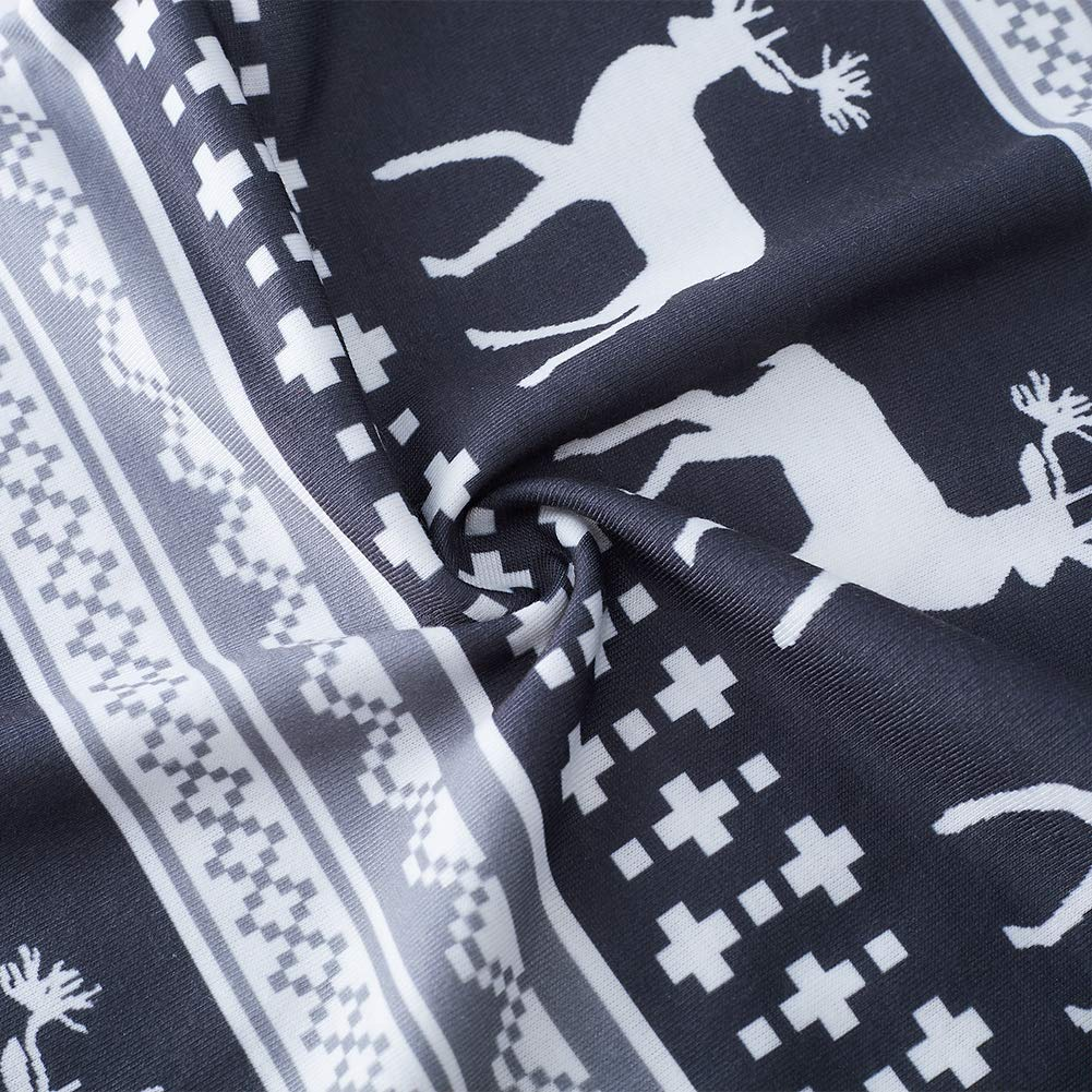 RAISEVERN Pantalones de Pijama navide/ños c/ómodos para Hombre Pantalones de Dormir Casuales Pantal/ón Inferior de Pijama con Bolsillo
