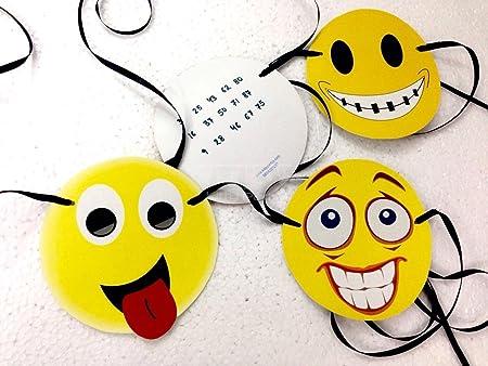 Smiley Mask Tambola Tickets