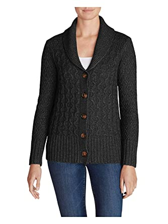 Eddie Bauer Womens Cable Fable Cardigan Sweater At Amazon Womens