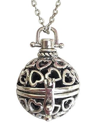 Amazon heart lava stone aromatherapy pendantlocket essential heart lava stone aromatherapy pendantlocket essential oil diffuser necklace aloadofball Image collections