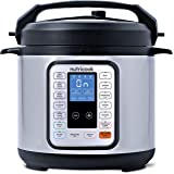 Nutricook Smart Pot by Nutribullet - 9 in 1 Electric Pressure Cooker, 6 Liters,  1000 Watts, Silver/Black