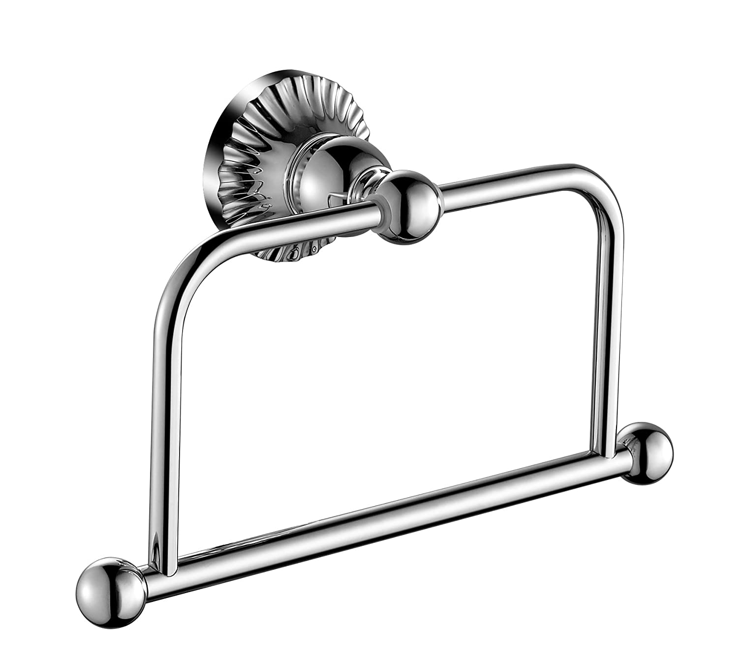 Aquatrend 5982 Bathroom Set Brass Holder Robe Hook WALL HANGING Chrome Finish