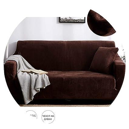 Amazon.com: Slipcovers Sofa Plush Fabric 1/2/3/4 Seater ...