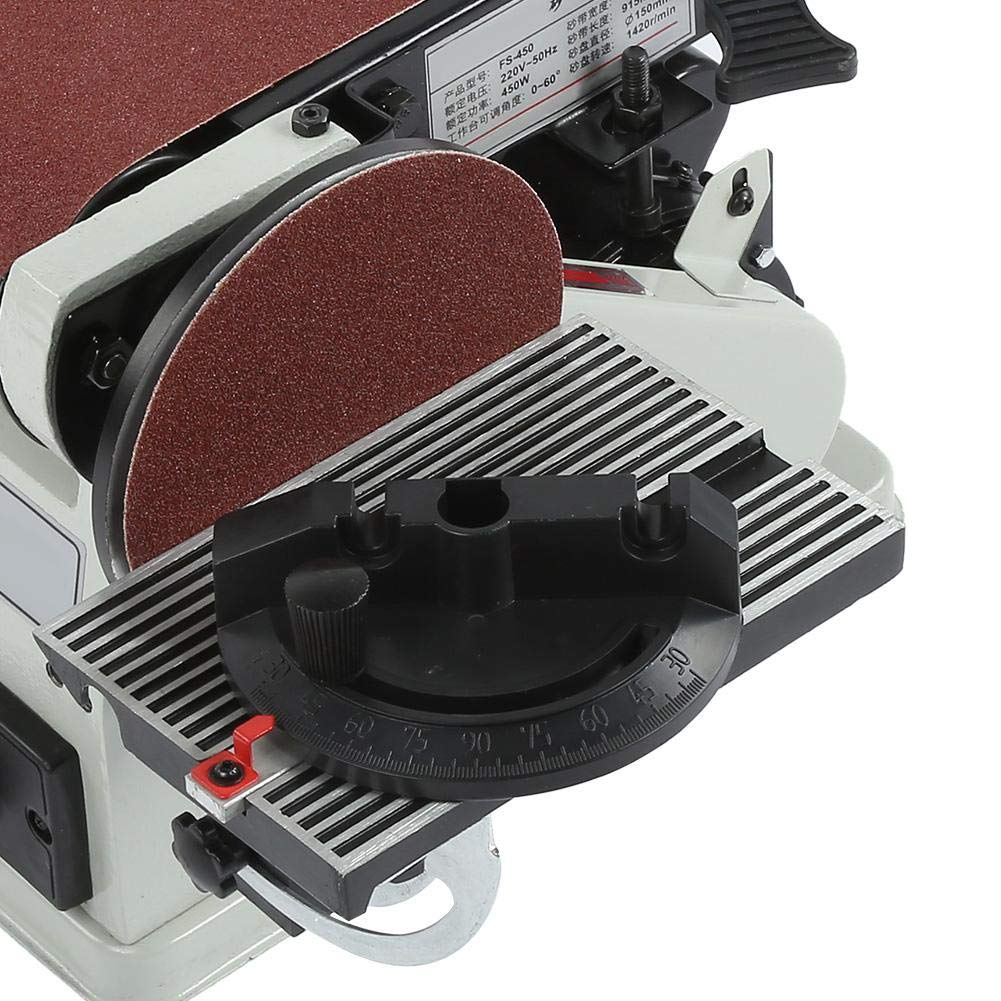Multifunctional Belt Sander Machine Bench Grinder with 6Inch Disc and 4 x 36Inch Belt US Plug 110V Belt Sander