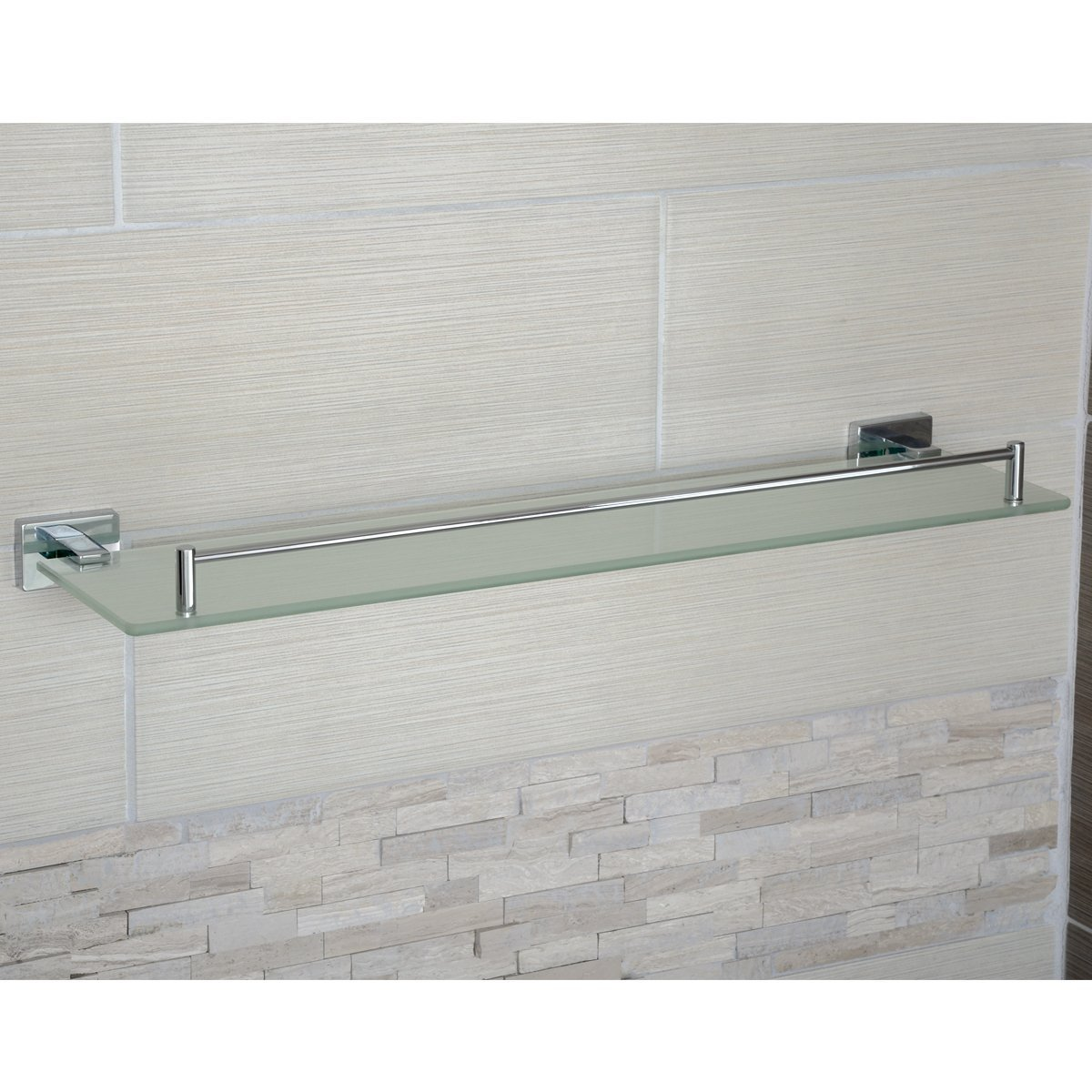 Basics Euro Double Towel Bar 21-Inch AB-BR822-PC Polished Chrome