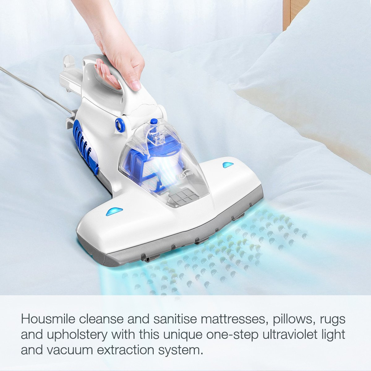 Pillows Curtains Housmile 12KPa Upgraded 836 Vacuum Cleaner Sofas and Carpets Effectively Clean up Mattresses