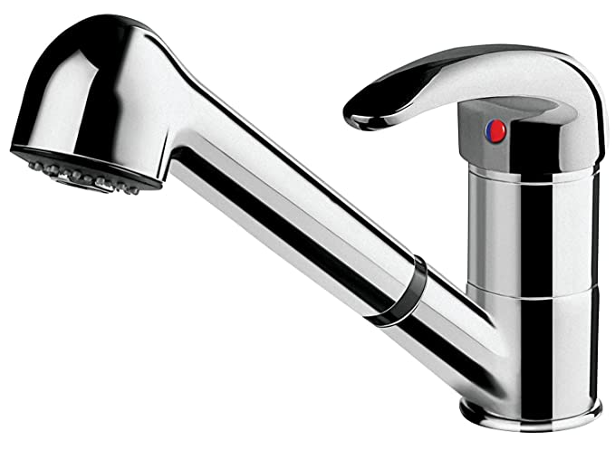 Hindware F130015CP Essence Sink Mixer with Shower Pull Out 150Cm Double Lock Flexible Hose Table Mounted Model (Chrome) Bathroom Basin Taps at amazon
