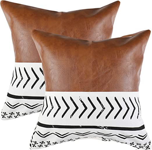 Cork Cushion Cover Couch Pillow Case Home Decor Vegan Eco-Friendly Country 18x18