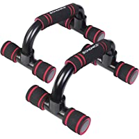 SONGMICS Push-Up Stands, Push-Up Bars for Home Exercise, Padded and Angled Grip, Push-Up Handles, Non-Slip on The Floor…