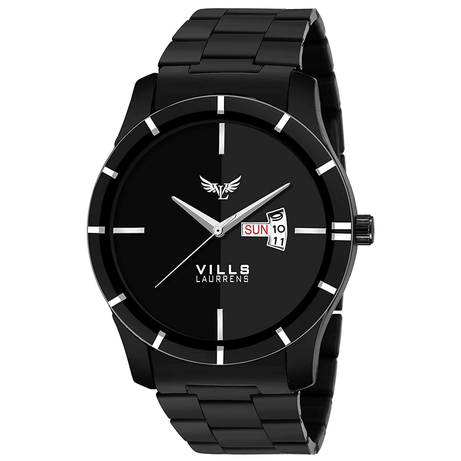 Vills Laurrens VL-1114 Stunning Black Day and Date Series Watch for Men and Boys